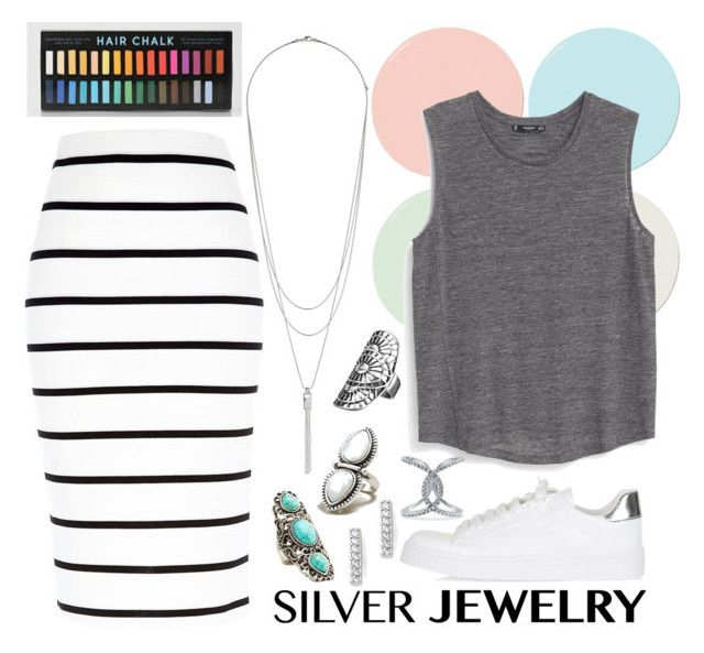 """S I L V E R"" by pinsplace ❤ liked on Polyvore"