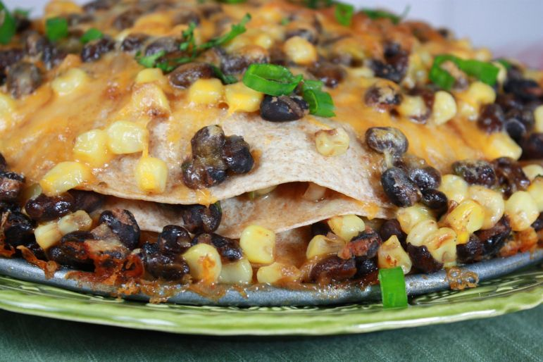 Black Bean and Tortilla Pie