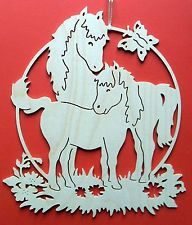 Fensterbild 2 Pferde Natur Holz Erzgebirge Fensterbilder Dekupiersage Vorlagen Basteln