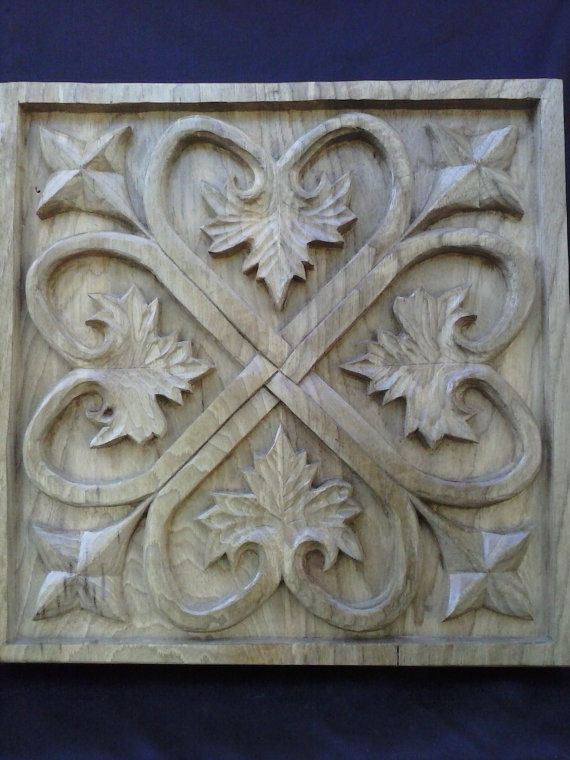 Wooden Wall Art Decor Panel Hand Carved in American Elm, Unique Wood ...