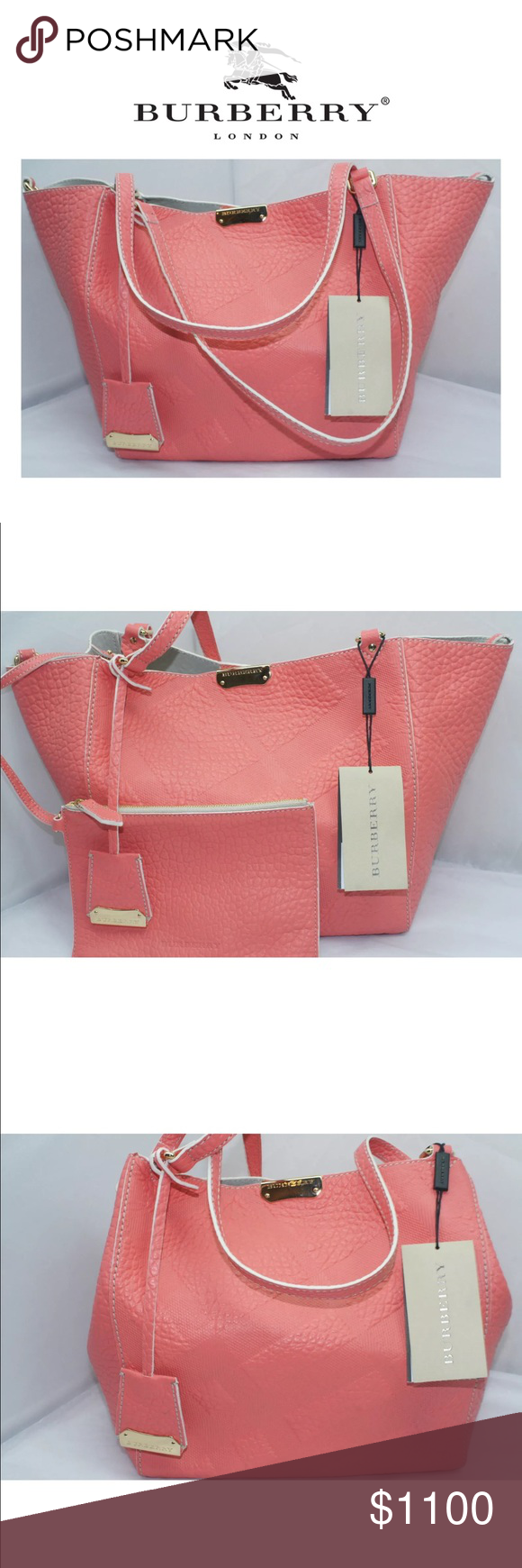 """Burberry Small Canterbury Tote NWT 