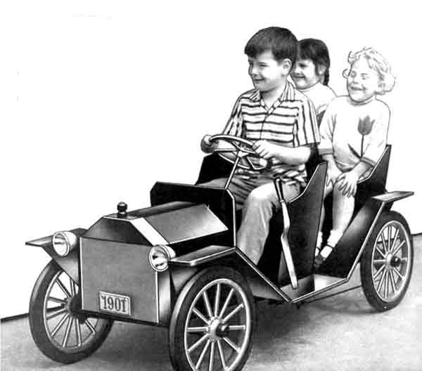 Vintage Battery Powered Ride On Car