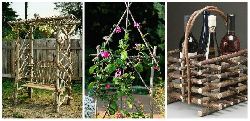 Decorations From Scrap Branches In New Projects For Gardens My Desired Home Garden Art Diy Garden Projects Garden Design