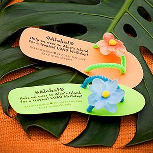Flip flop invites to a luau!!