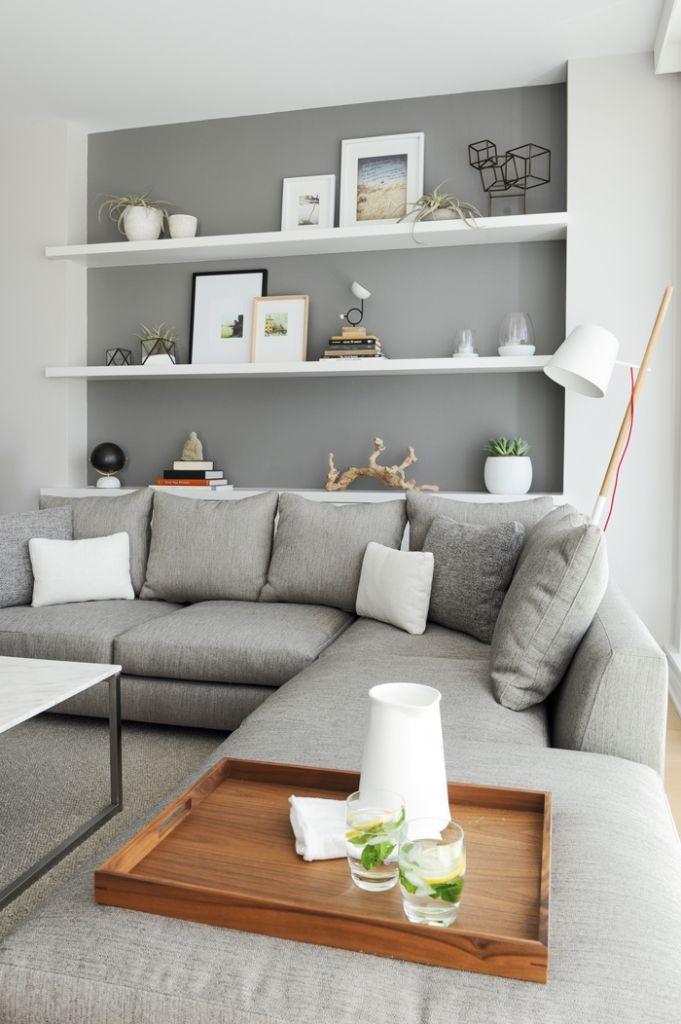 Shelves in alcove with walls of uneven depth | Decoração ...