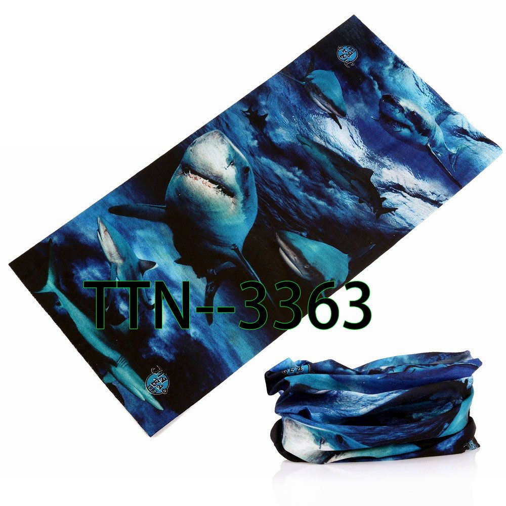 Hot Selling Fashion Multifunctional Bandana Seamless Tubular Fish Bandana  25 48cm Anime Bandanas Tube Scarf free shipping worldwide f3dfb7d55be