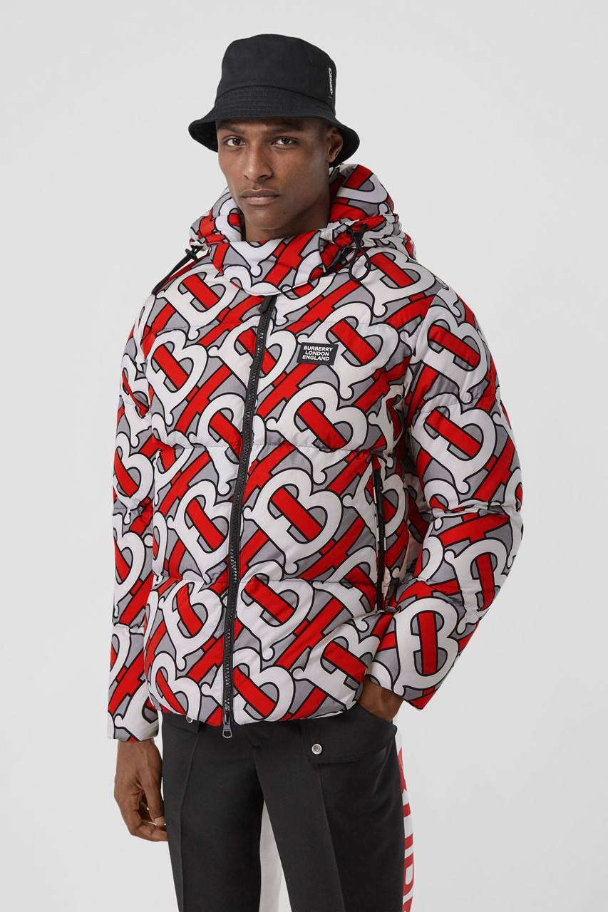 Burberry Plasters The Monogram Print On A Trio Of Colorful Puffer Jackets Streetwear Fashion Jackets Fashion [ 1280 x 853 Pixel ]