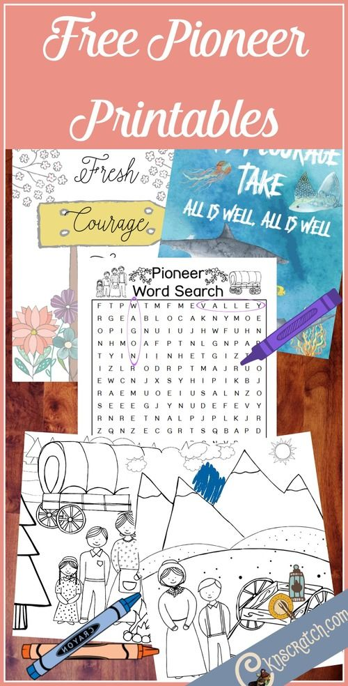 Celebrate the Pioneers with Free Printables | new calling | Pinterest