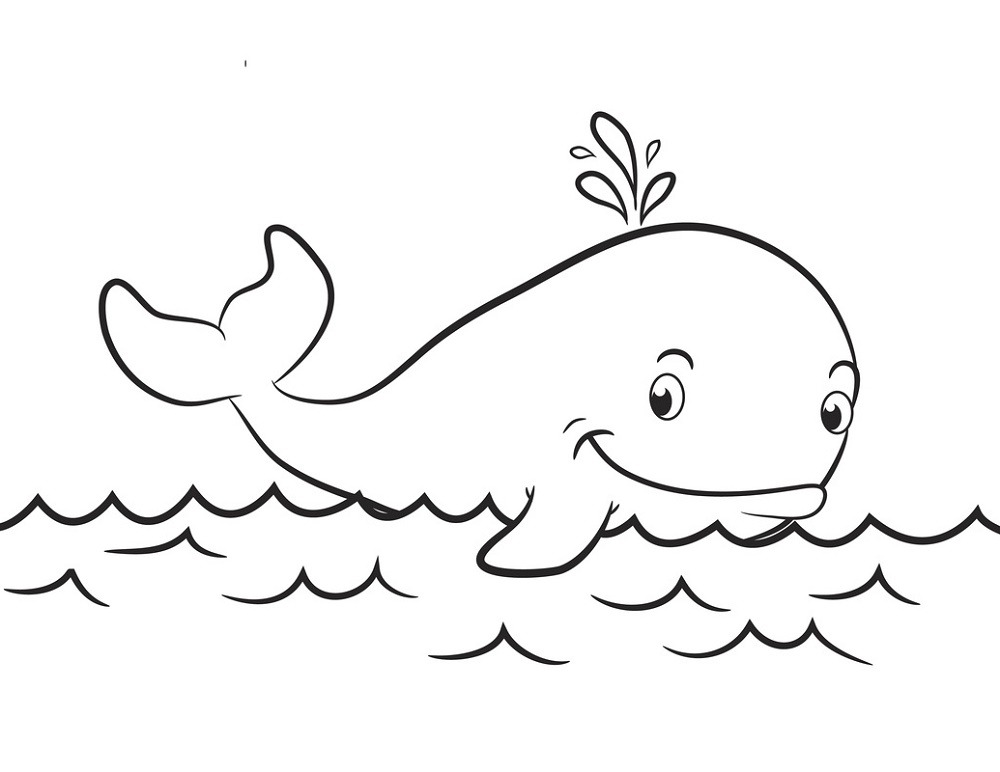Whale Coloring Pages for Kindergarten Whale coloring