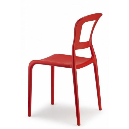 Design Stuhl Kunststoff rot modern Outdoor geeignet - Stühle - designer moebel einrichtung modern