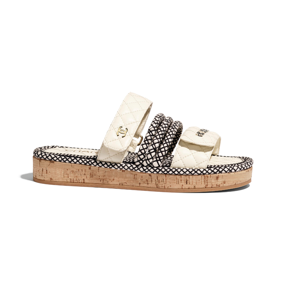 Ivory Mules   CHANEL   Chanel sandals