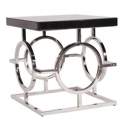 Howard Elliott 11183 24 Wide Metal And Wood End Table