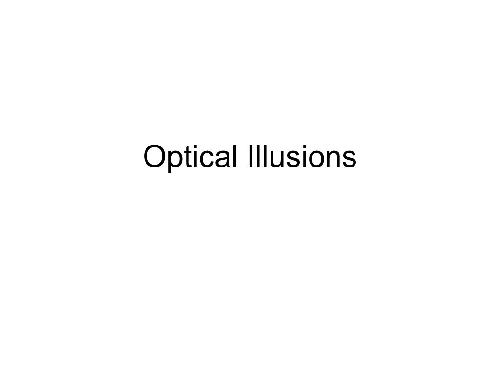 Optical Illusions In