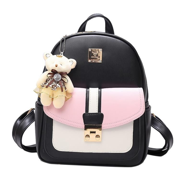 93771438dead 2017 Fashion Korean women mini Backpack small PU Leather Backpacks school  bags teenagers girls female travel Backpack Mochilas. Yesterday s price  US   17.01 ...