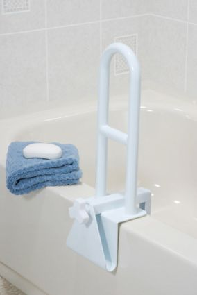 Adaptive Bathroom Equipment | Bathtub Grab Bars Clamp On W   Bathroom  Equipment   Bathroom Safety .