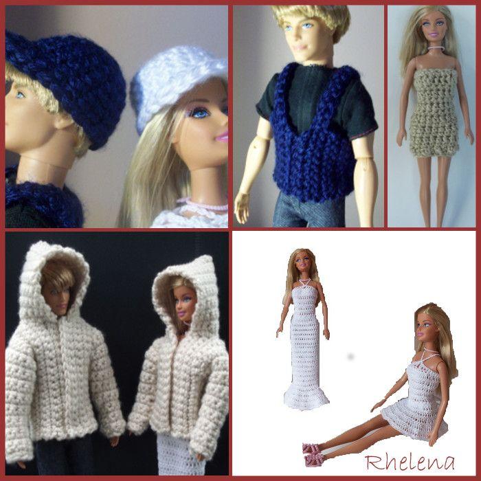 Free Barbie Crochet Patterns | Barbie, Stricken und Häkeln