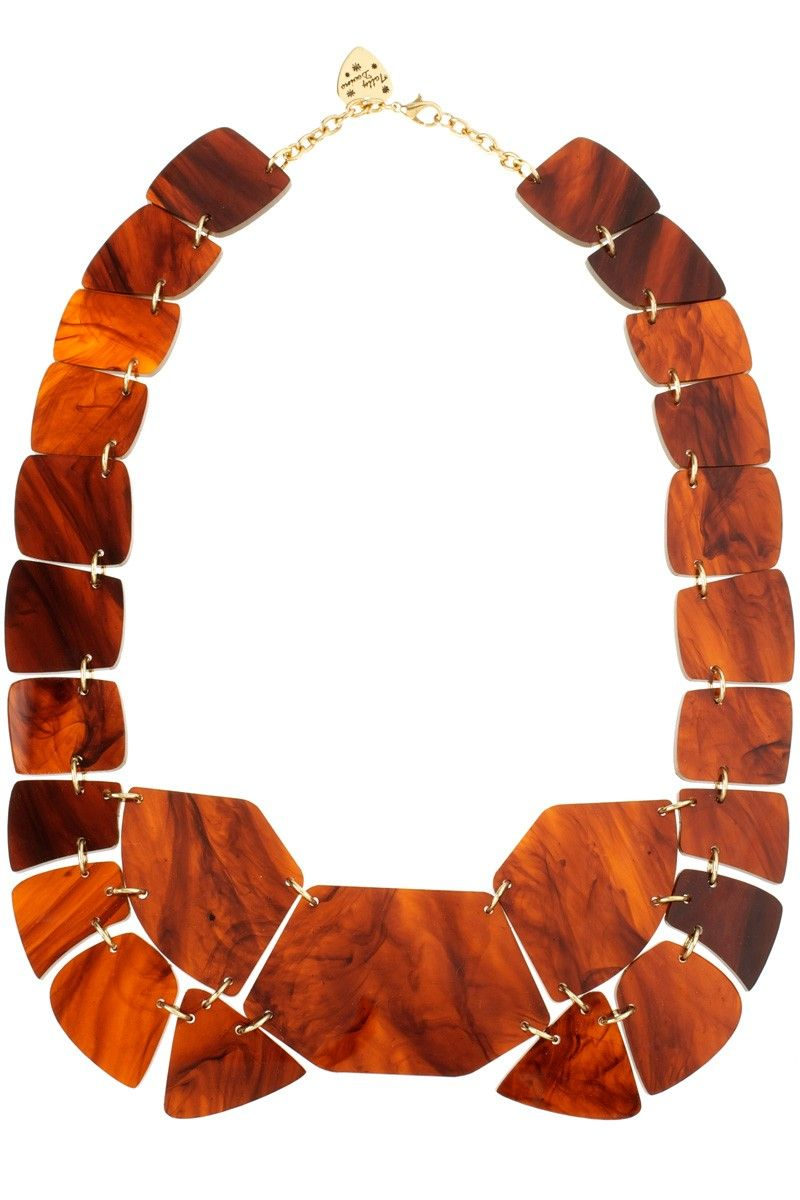 Tortoise Shell Link Necklace