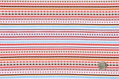 White/Multi-Colored Stripes Jersey