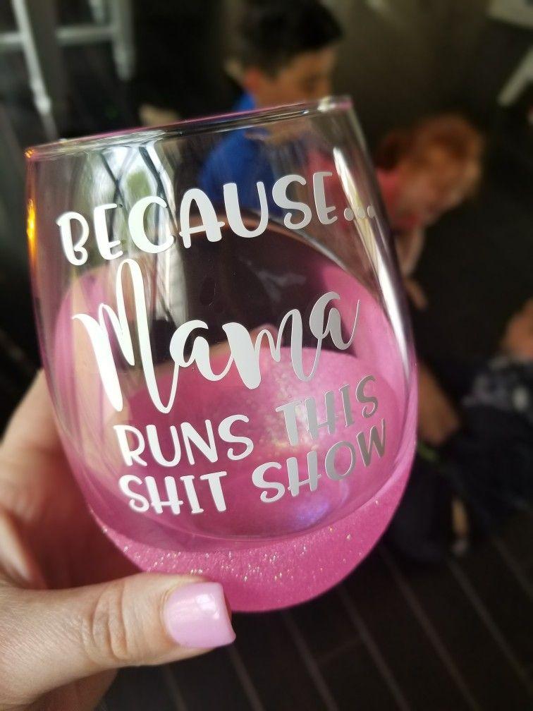 Mom Glitter Wine Glass Funny Mom Wine Glass Mom Life Wine Glass Wine Glasses With Sayings Mom Wine G Mom Wine Glass Glitter Wine Glass Glitter Wine