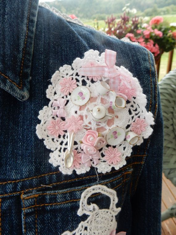 Sweet Tea Embellished Denim Jacket by touchograce on Etsy