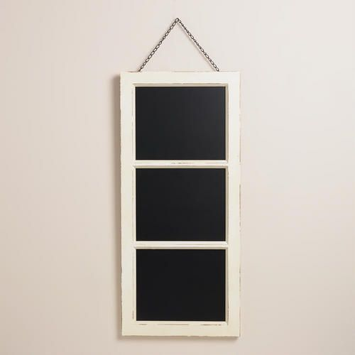 """One of my favorite discoveries at WorldMarket.com: White Annabelle Chalkboard 14.5 x 39"""" ht mudroom"""