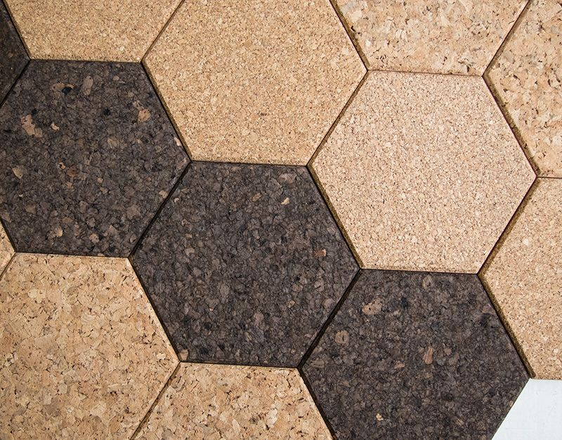 Cork Wall Tiles An Sa Company Offers These Also In Other Shapes Great Effect