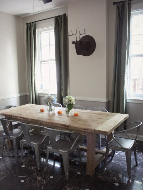 Table With Tabouret Chairs | Tabouret Chairs And Butcher Block Table | The  Nest