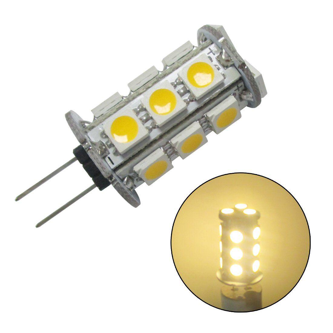 Grv G4 185050 Smd High Power Led Bulb Warm White Ac Dc 11v 24v Pack Of 6 Click The Image For Extra Details This Is An Affiliate Li Led Bulb Power Led Bulb