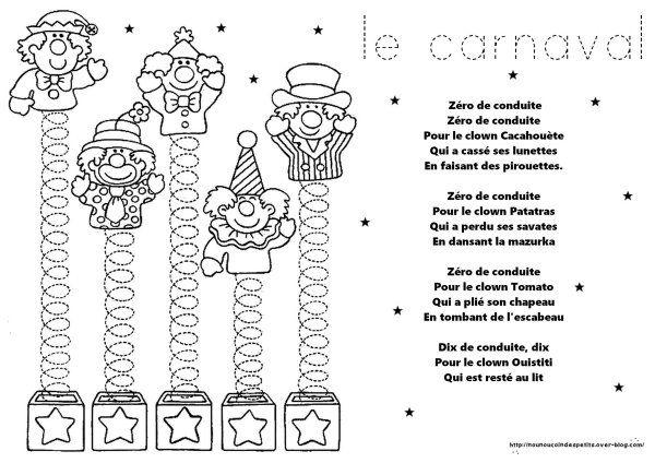 """.. Carnaval .. """" poème clown zéro de conduite """""""