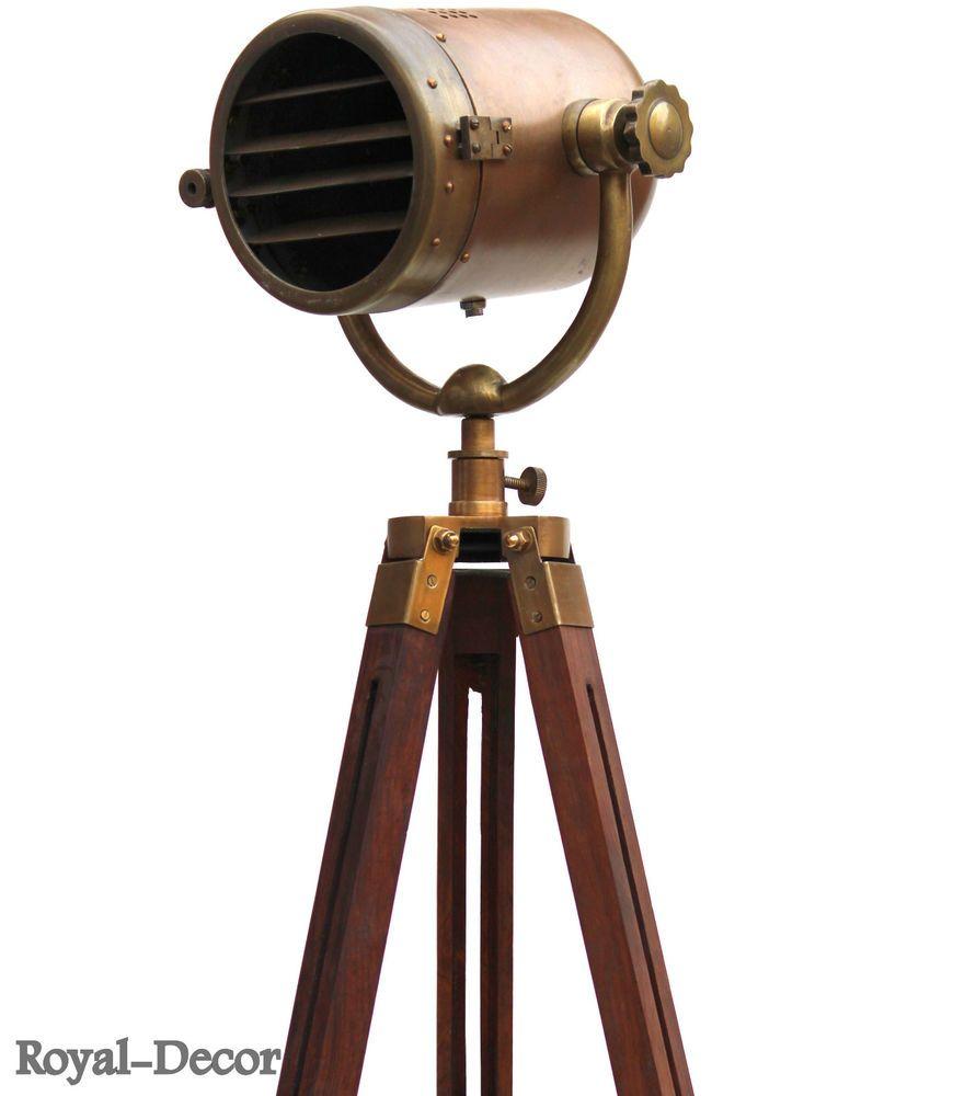 Antique Nautical Searchlight Marine Floor Lamp Studio