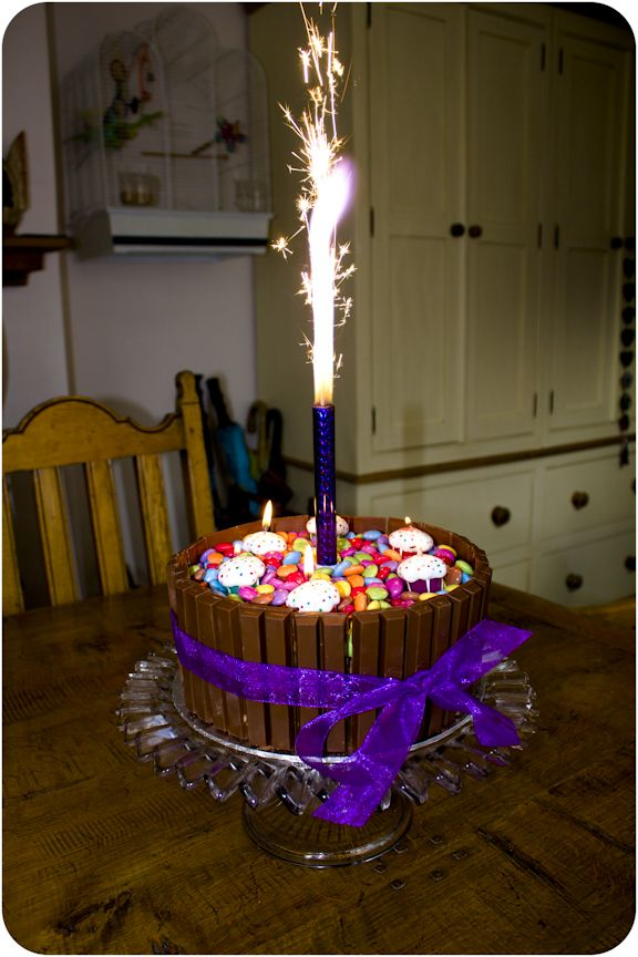 The Smarties Kit Kat Double Chocolate Birthday Cake
