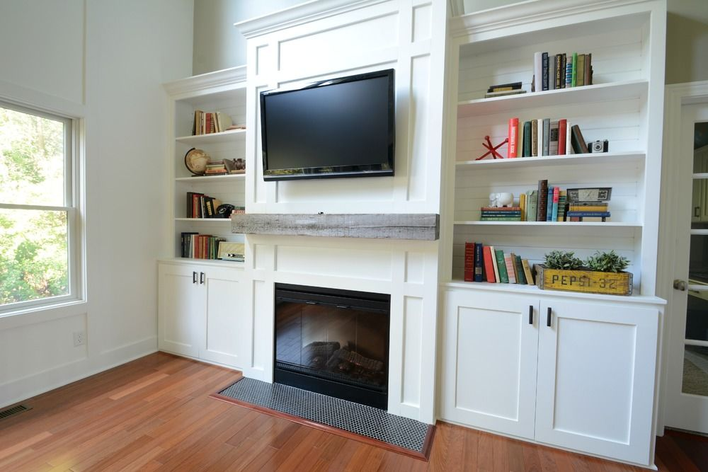 Living Room Built Ins Tutorial Cost Decor And The Dog Living Room Built Ins Living Room Built In Cabinets Living Room Cabinets