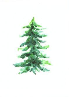 Pine Tree Body Art Watercolor Trees Pine Tree Painting Tree