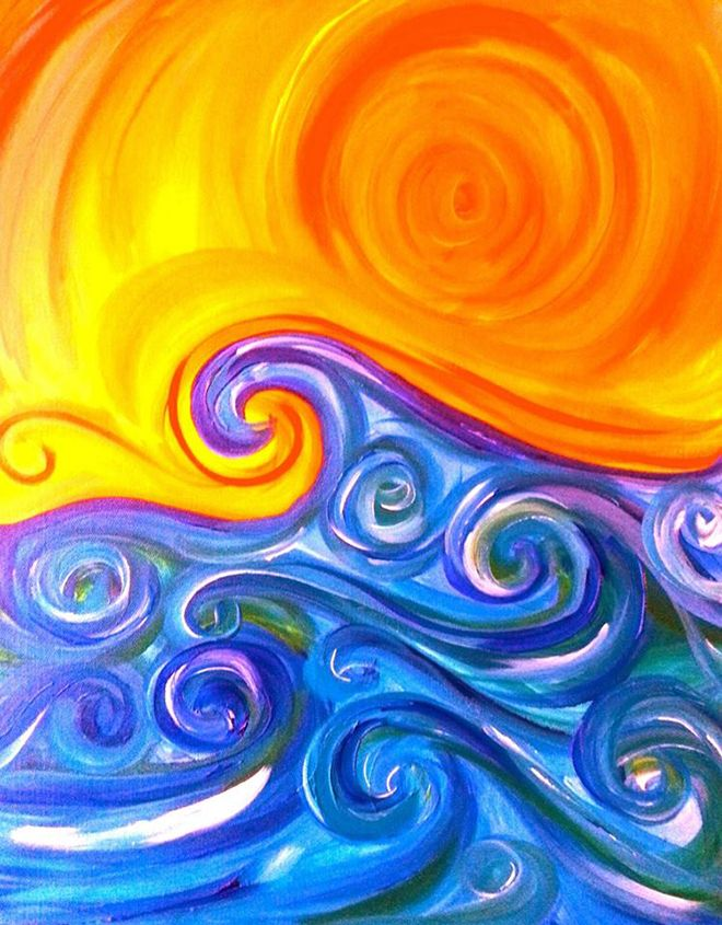 Complementary I Like This A Lot Love How The Swirls Create Depth In Painting Contrast Colors Very Smooth Effect