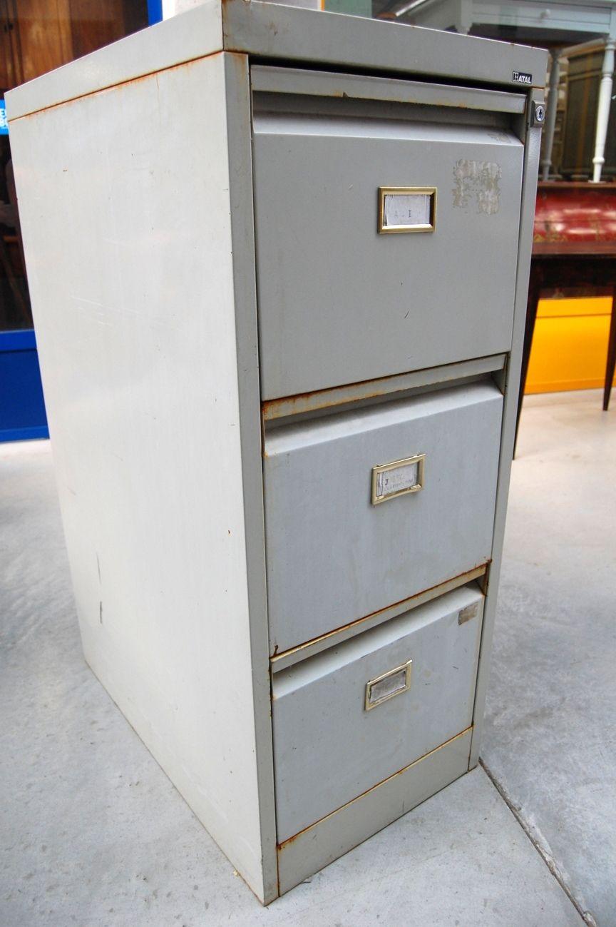 Cassettiera Ufficio D Epoca.Cassettiera Da Ufficio In Metallo Anni 50 H 101 5 Cm