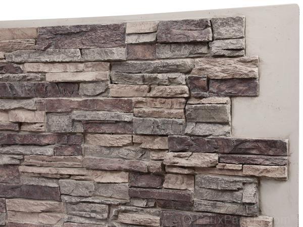 Regency Stacked Stone Misty Morning Panel Faux Stone Siding Stacked Stone Stone Siding