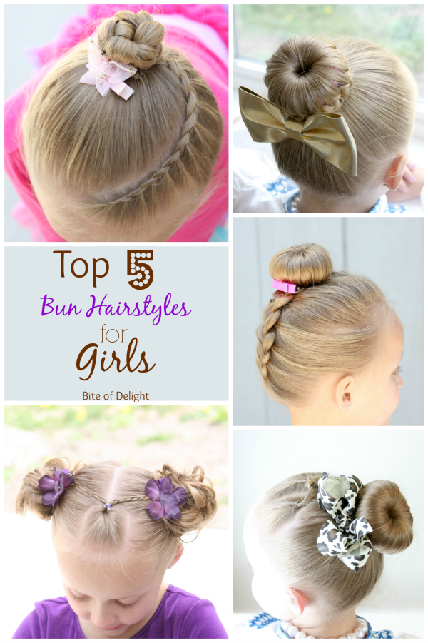 Top 5 Bun Hairstyles For Girls Little Girls Hairstyle Girl