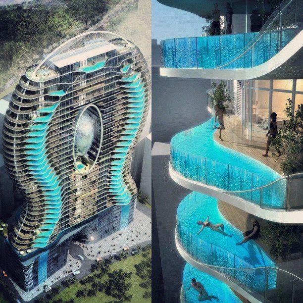 Mumbai Hotel With Pools In Every Room Balcony Pool Amazing