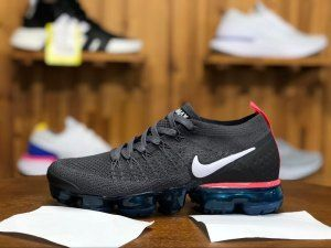 3936c0eb651c7 Womens Nike Air VaporMax 2 Flyknit Thunder Grey White Geode Teal Black Hot  Punch 942843 009