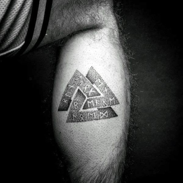 50 Valknut Tattoo Designs For Men Norse Mythology Ink Ideas My