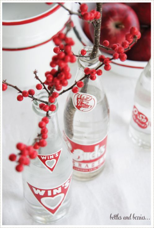 a creative mint - vignettes of color - red & white