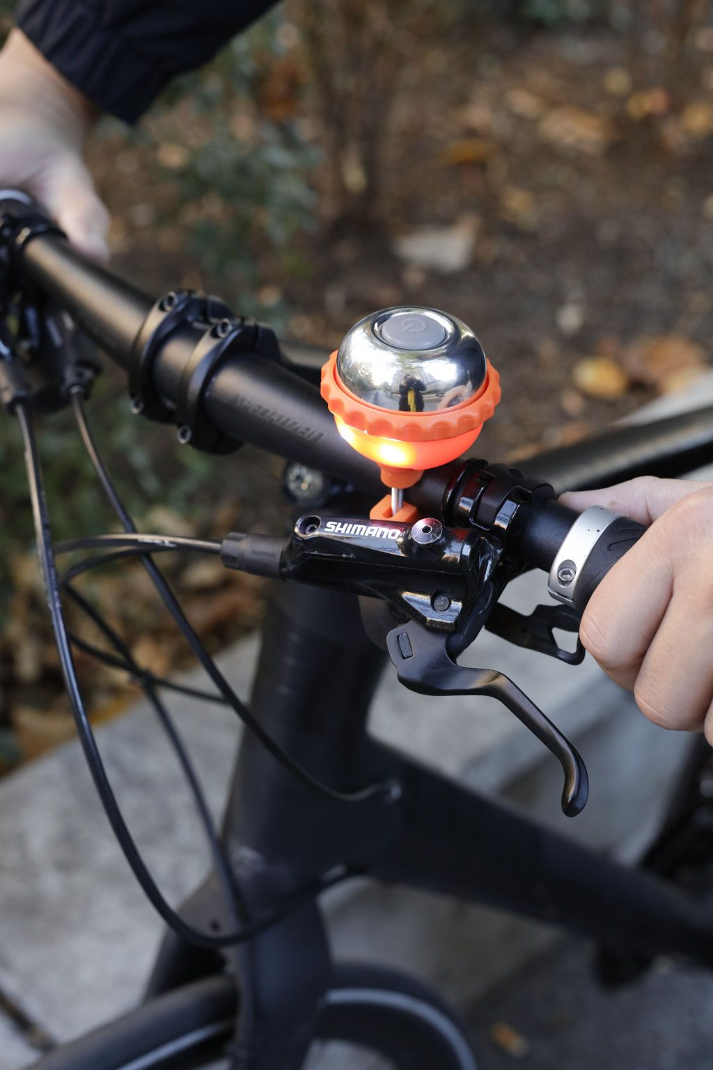 6c1e07b1079 Bell light is removable for theft prevention. Includes two screw sizes to  fit to different handlebar sizes.  bell  bike  kikkerland  outdoors