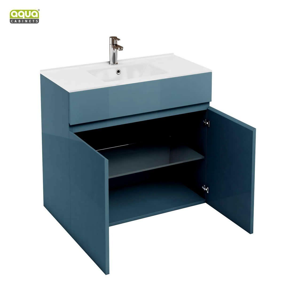 Aqua Cabinets D450 Two Door Bathroom Unit With 900mm Basin