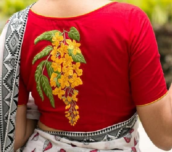 Check Pure Cotton Ready made Choli Stitched Saree Blouse Top Tunic Blouse For Bridal Bridesmaid Wedding Wear Blouse