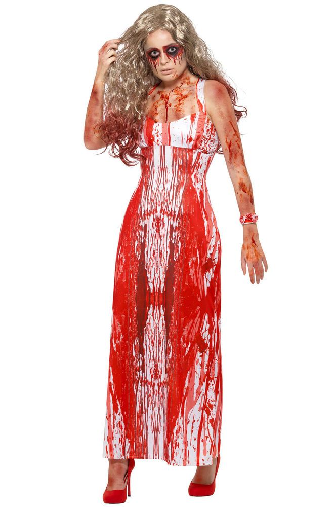 Halloween Pakjes.Brand New Carrie Inspired Bloody Prom Queen Adult Halloween