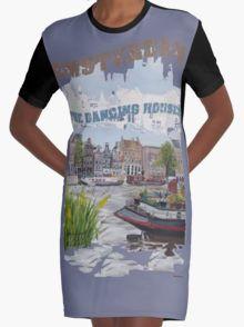 De Dansende huisjes Graphic T-Shirt Dress