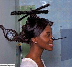 Coiffure Humour. Photos insolites humoristiques des pires coiffures de la  planète, images drôles incroyables des coupes de cheveux féminines et  masculines