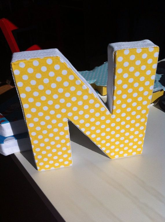 Alphabet letter | Decorative Wall Letter | Letters cover with fabric ...