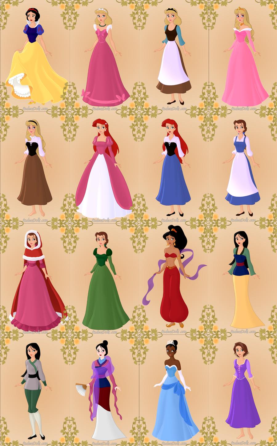 Image result for disney princess color scheme | Disney Princesses ...