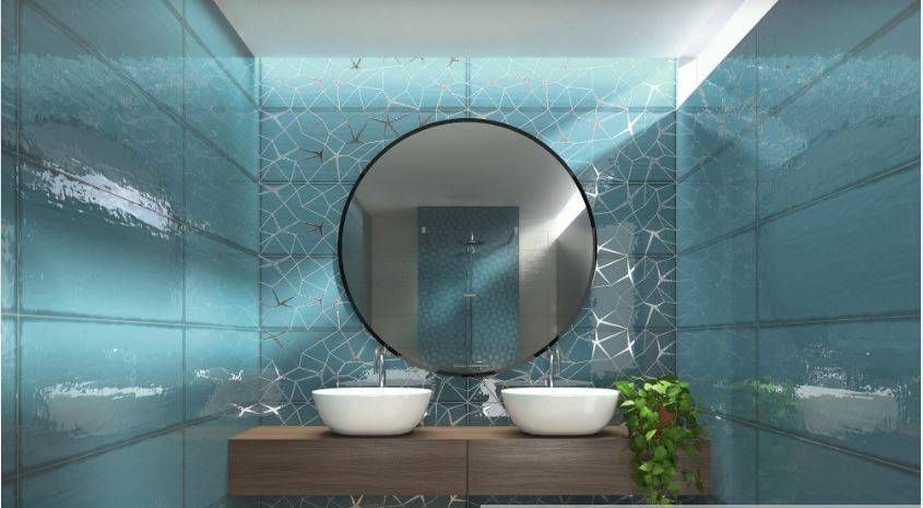 Carrelage Bleu Turquoise Bathroomaesthetic Bathroom Decor Mirror